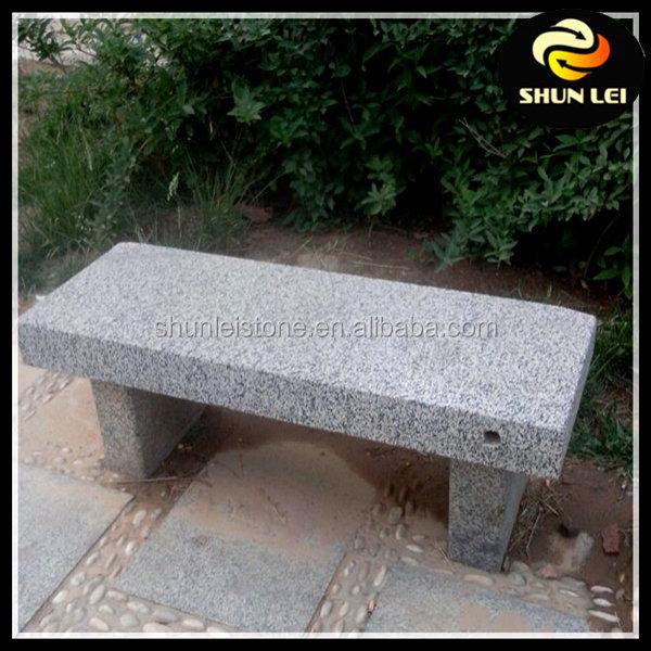 Curved Garden Sitting Bench Round Granite Stone Garden Bench