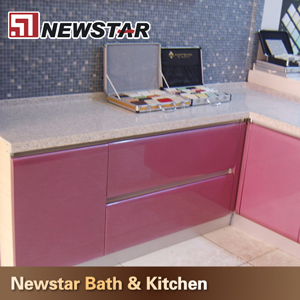 Delightful High Quality Polished Pink Laminate Countertops