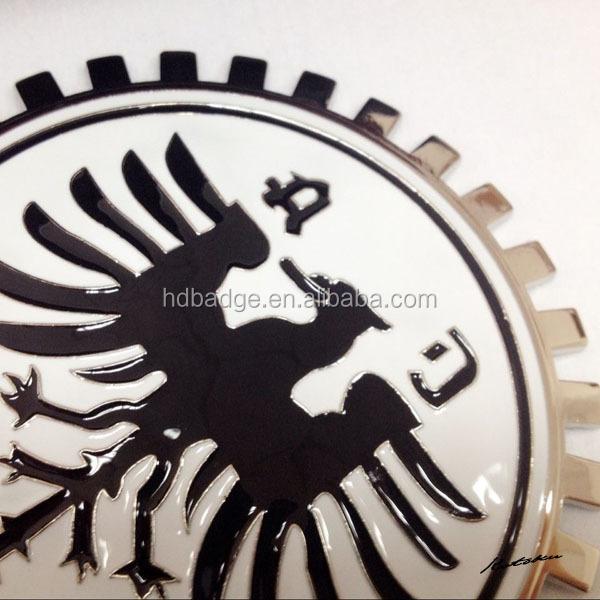 Car Emblem Badgeflag Car Logorotary Wheel Gear Car Emblem Metal