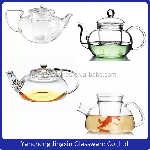 250ml mini glass teapots for kungfu tea suitable for 3-4 people