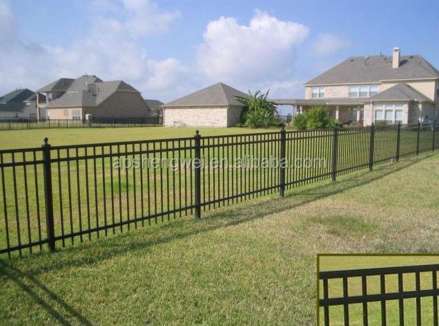 Powder coated steel vertical bar fence buy vertical bar - Cercas de hierro ...