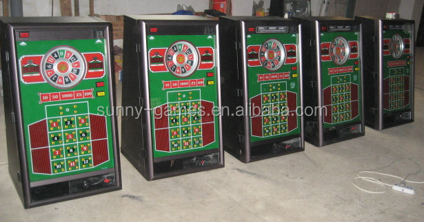 Roulette gambling machines