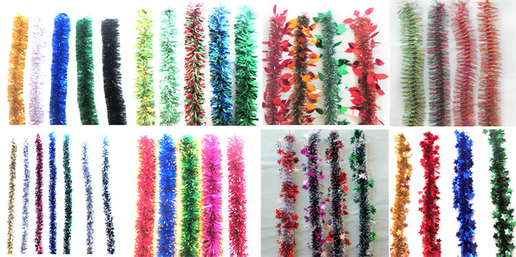 Xibao wholesale promotion christmas metal tinsel garland
