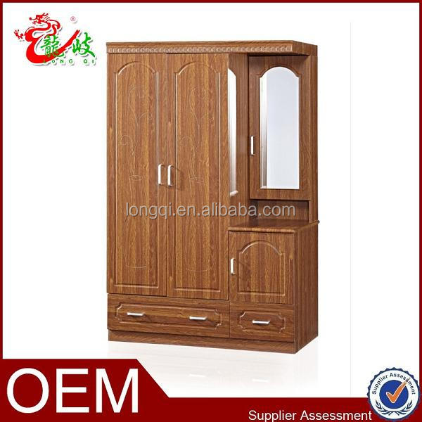 Hot Sale High Quality Indoor Furniture Bedroom Mdf Closet Mirror Wardrobe  FC303