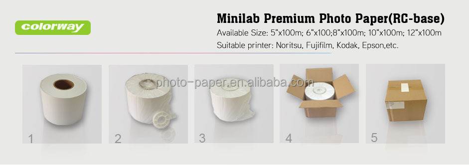 Dry Minilab Photo Paper 8 X100m For Fuji Frontier Dx100