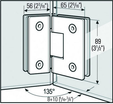Wholesale Glass shower door pivot hingeAOLITO Bathroom glass clip
