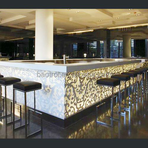 Elegant Acrylic Lighted Bar Furniture / Unique Bar Table Furniture / Bar Furniture