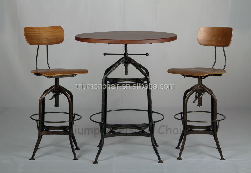 Vintage Retro Bar Table /toledo Industrial Table / Steel Frame ...
