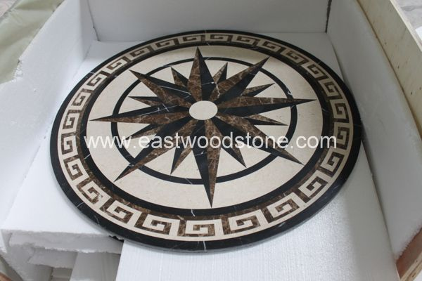 French Golden Arch Shape Stone Mosaic Floor Tile Stone