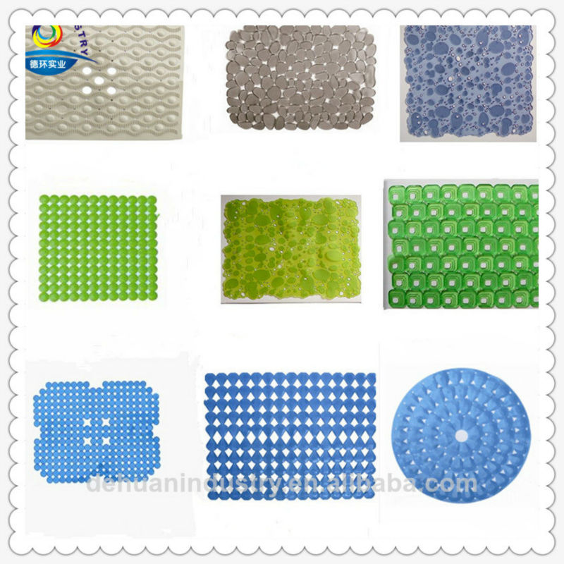 Transparent Pebble Design PVC Bath Mat,Kitchen Sink Mat