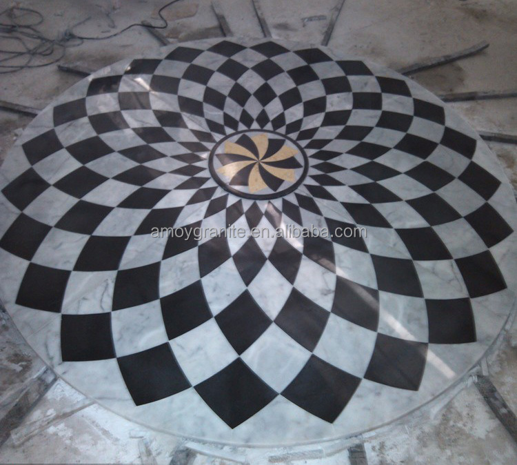 Marble Floor Designs Patterns : Rectangle marble floor medallions pattern good quality