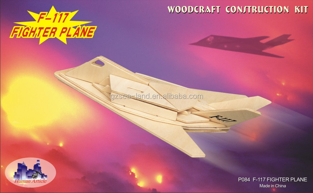 Wood Puzzle F-117 Fighter Plane 3d Brain Teaser Gift For Ages 8+ - Buy  Sea-land 3d Wooden F-117 Fighter Plane Model Puzzle Toys,F-117 Fighter  Plane