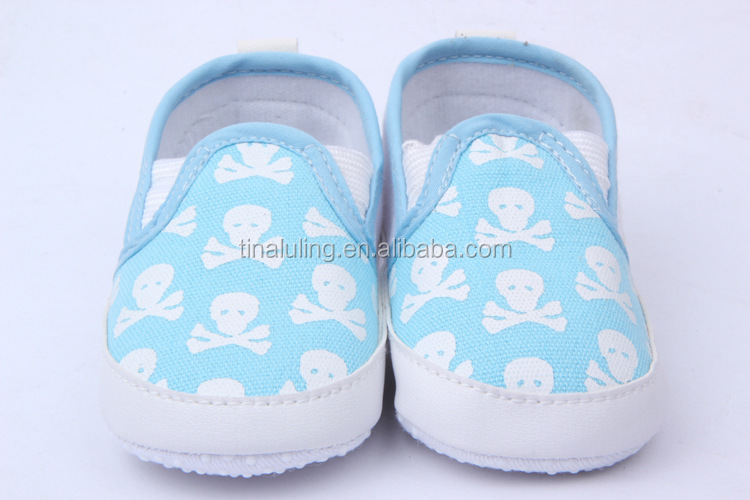 2014 New Baby Girls Skull Pattern Cotton Baby Canvas Shoes For ...