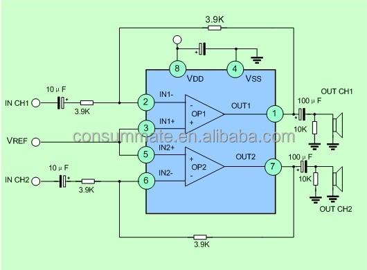 30mw Walkman Headphone Amplifier Driver Chip Sc1308l