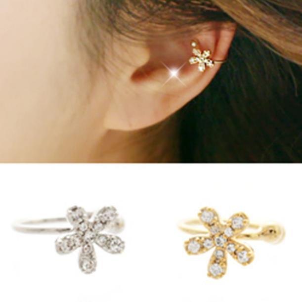 03415a459 Gold Ear Tops Designs Gold Ear Tops Designs No Hole Flower Earring ...