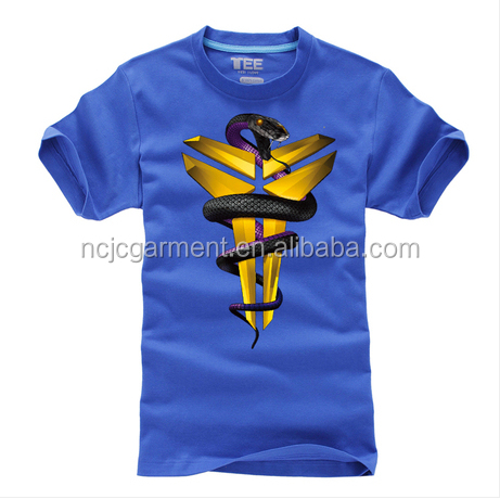 yybikx Kobe Bryant Tee Black Mamba Pattern Printing T Shirt Short Sleeves