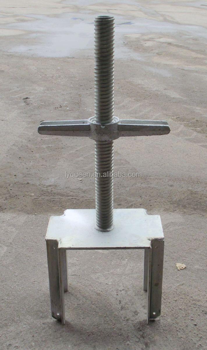 Scaffolding Universal Jack : Adjustable screw jack post for building galvanized