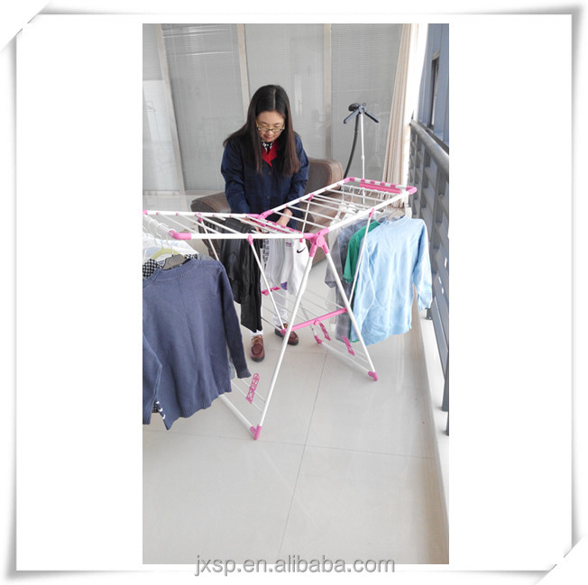 Big Size Metal Portable Folding Clothes Drying Rack With Plastic ...