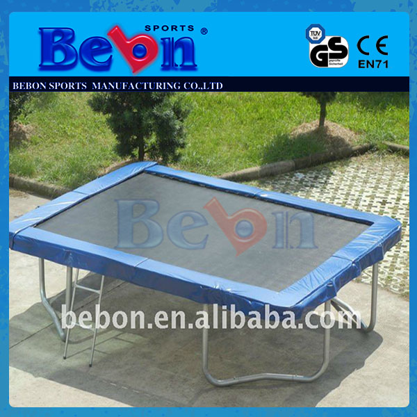 7'x10' Jumpking Big Rectangle Trampoline With Enclosure