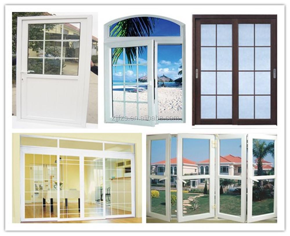 Pvc Slider Door With Double Glass,Glass Door To Living Room ...