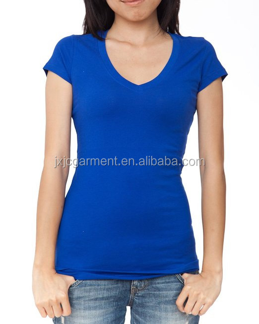 17d8664a74f2 v neck wholesale t shirts, women plain v neck t shirt, women's slim ...