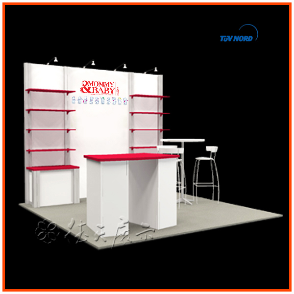 Exhibition Booth For Sale : Custom double exhibition booth stall design in china for
