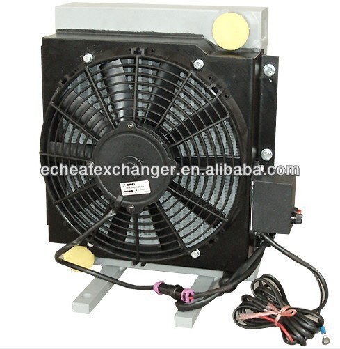 Compact Hydraulic Oil Coolers : Hydraulic oil cooler with fan for mobile machinery buy