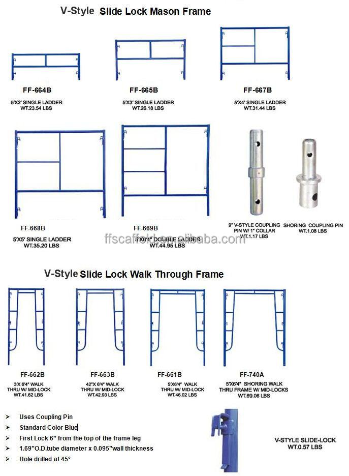 H Frame Scaffolding Mason Frame Ladder Scaffolding Buy