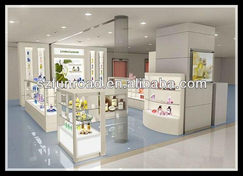 modern retail furniture. high end modern retail store display perfume showcase wood shelves cosmetic shop furniture a