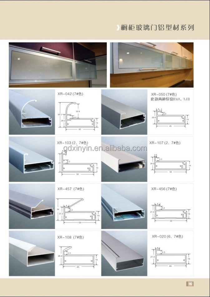 popular curved aluminum door frame profile for poland market
