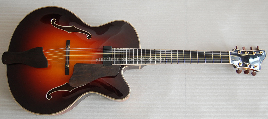 Yunzhi Fully Handmade 7 Strings Solid Wood Archtop Guitar