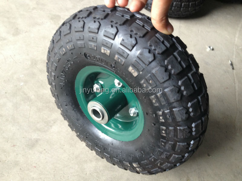 10x350-4 pneumatic wheel for lawn wheelbarrow