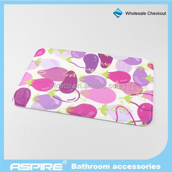 Matching Set Eggplant Picture Mechanic Bathroom Scale