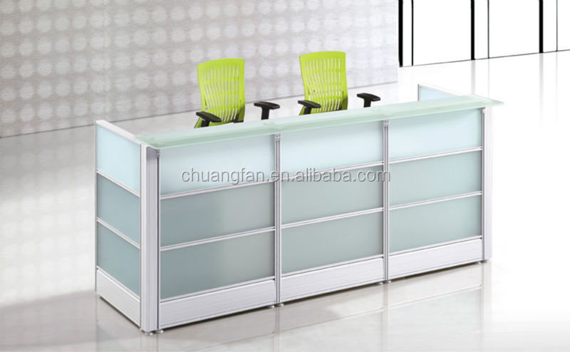 Glass Design Made In China Office Counter Table