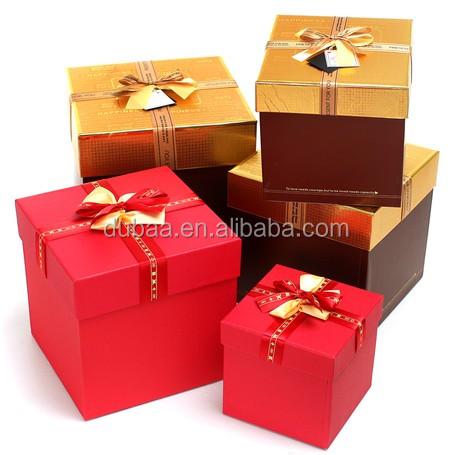 carré cadeau boîtes avec couvercle ; petite coffrets cadeaux gros