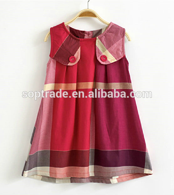 L00%cotton Sleeveless Casual Cotton Frocks Design For Children ...