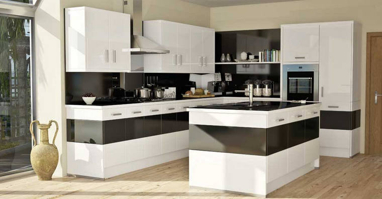 Modern mdf kitchen cabinet china cheap products with small for Cheap modern kitchen designs
