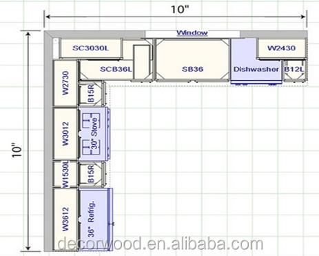 kitchen cabinet floor plans - kitchen design ideas