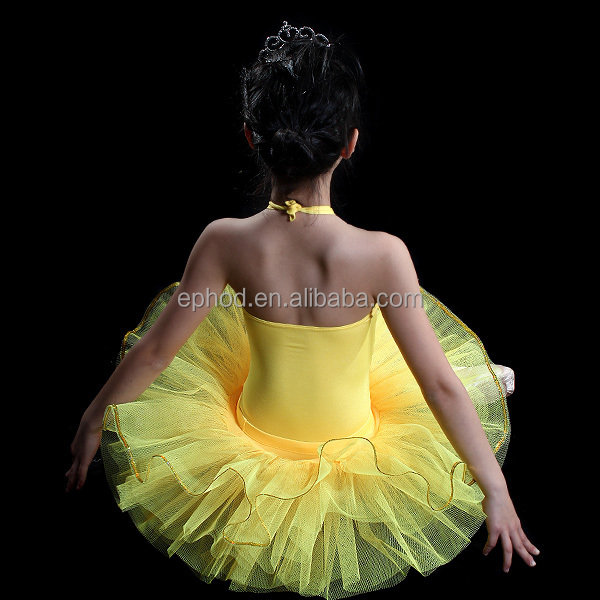 Ephod 2015 Lovely Yellow Ballet Tutu Dress Stage Performance Costume Skirt EPB