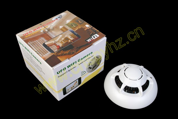 HOTTEST Wireless Security Camera smoke CCTV Wirless Camera With WIFI Function Wide Angle free P2Plivecam APP