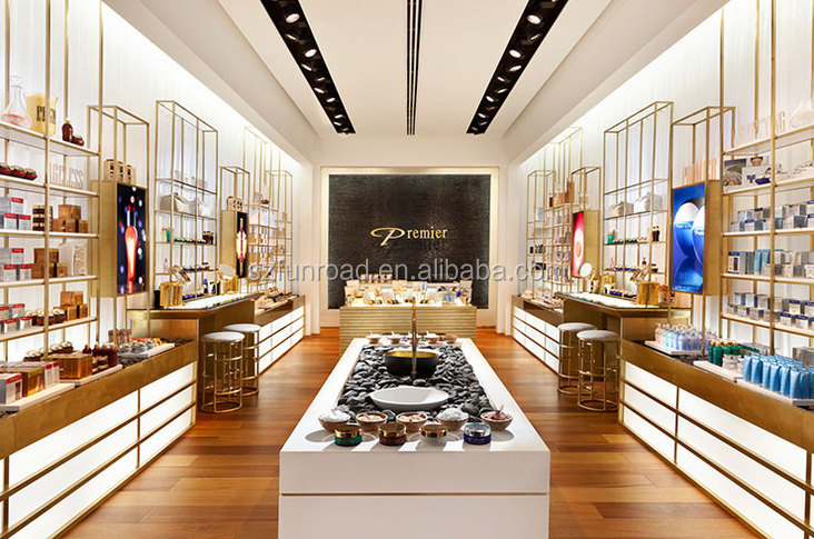 High end cosmetics store furniture in beauty store design for High end furniture shops