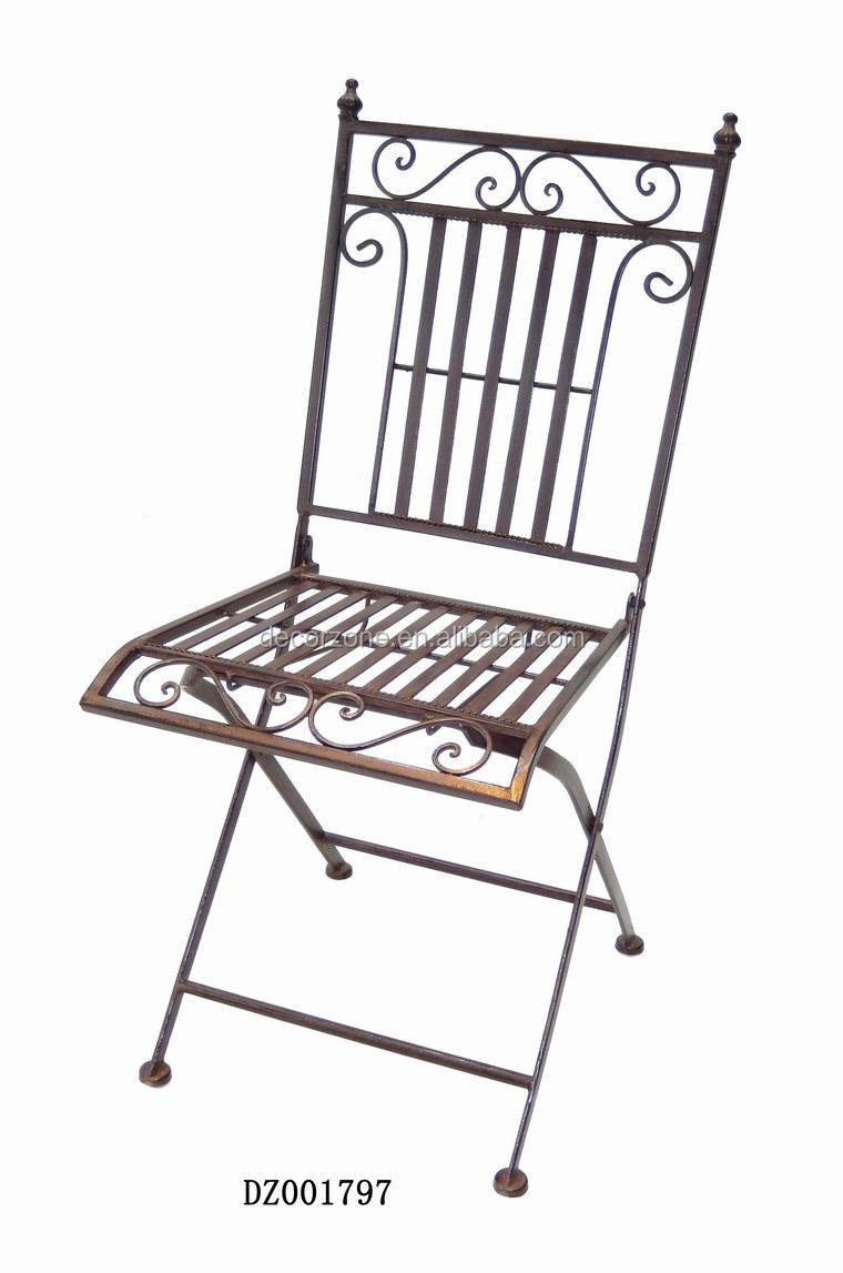 Cheap Metal Folding Bistro Chair With Modern Design