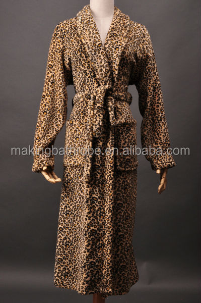 Imitation Leopard Skin Ladies Printed Coral Fleece/ Flannel ...