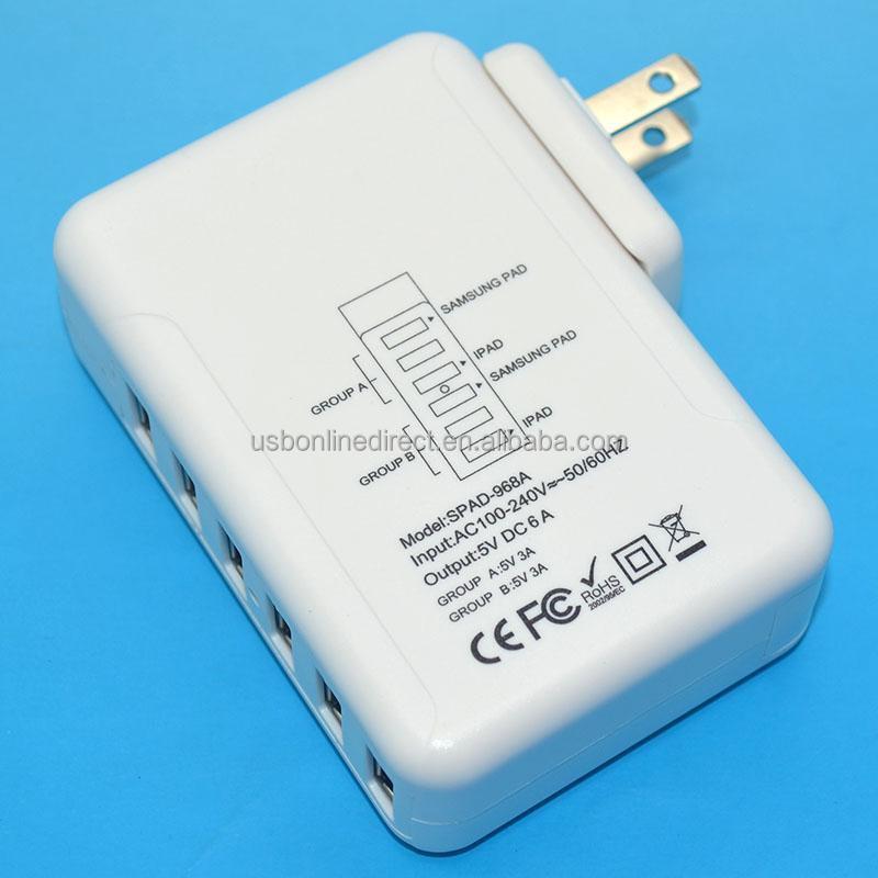 Portable Usb 1 2 3 4 5 6 7 8port Usb Ac Power Multi Adapter Travel ...