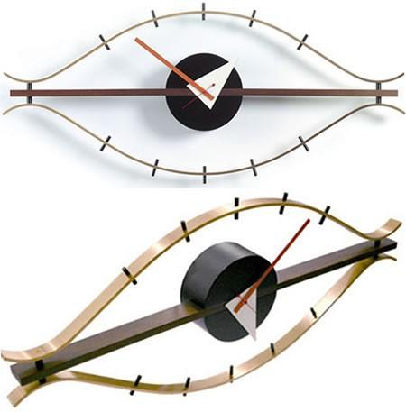 Fancy Wall Clock Eye Clock Design Wooden Decorative Wall Clock