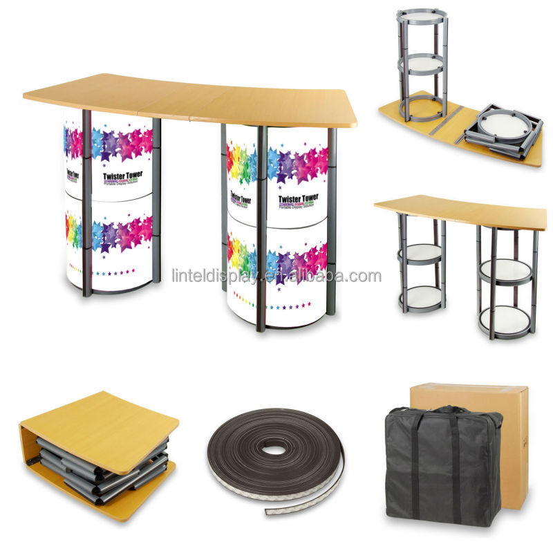 Portable Exhibition Table : Portable promotion table display folding