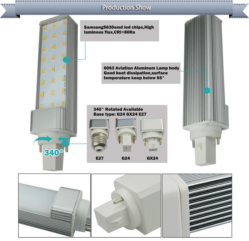 Led G24 Light Bulb D4 5w-15w Replace Cfl G24,Gx24,G23,Gx23,E27,E26 ...