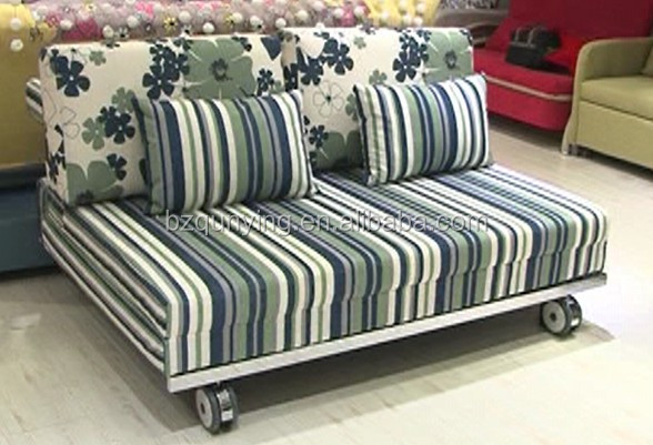 Modern Pulling Sofa Bed Frame With Wheels