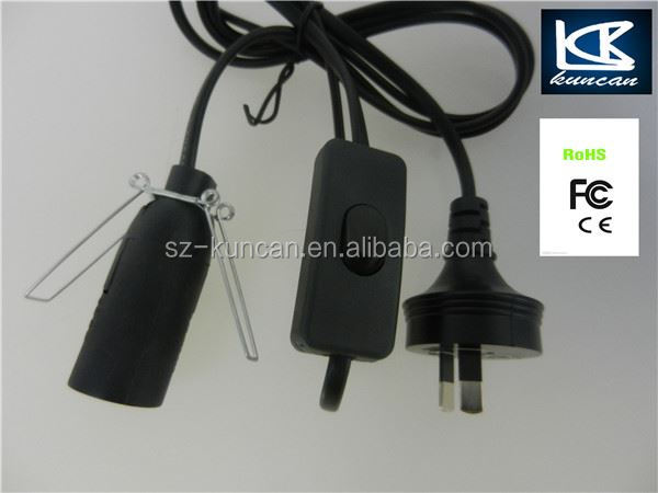 Standard 250v Lamp Salted Power Cord With 303 Inline Hand Switch ...