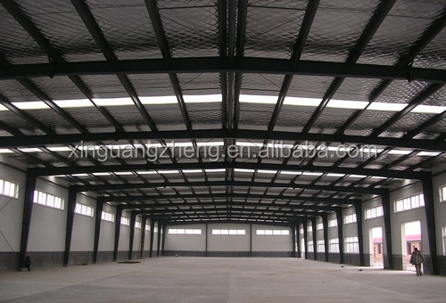 construction large span prefabricated steel structure factory for rent
